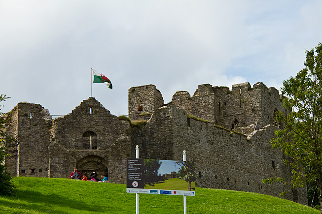 Oystermouth Castle, Wales - photography by Steve Crampton